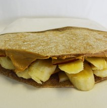 Peanut Butter, Banana & Apple Pita